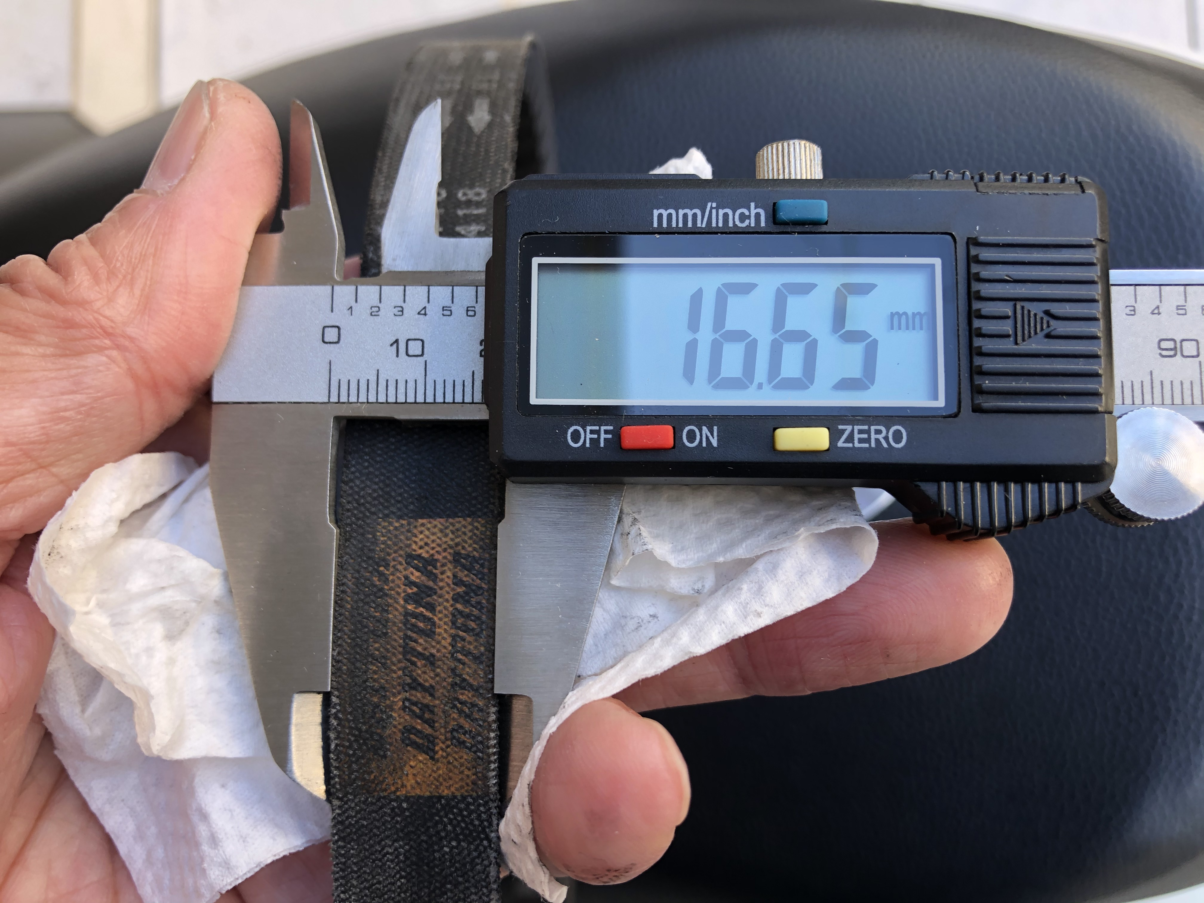 DAYTONA(デイトナ) 強化Vベルト ライブDIO-ZX('94〜'02)、ジャイロキャノピー〈TC50P/V※TA02-110、TA02-130のみ適合〉 95418